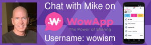 Chat with Mike on WowApp