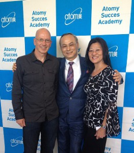 Here we are at the Atomy Success Academy with Atomy CEO Han Gil Park.